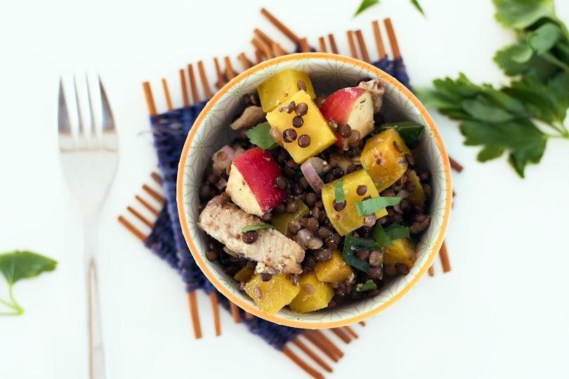 recette salade lentilles betterave