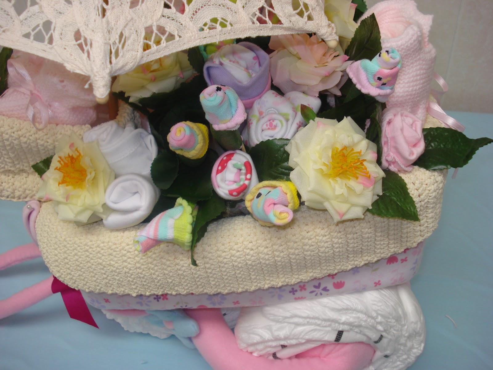 58345223a8ca CosasdeMarina | Regalos con pañales, detalles para bebes: Carrito de ...