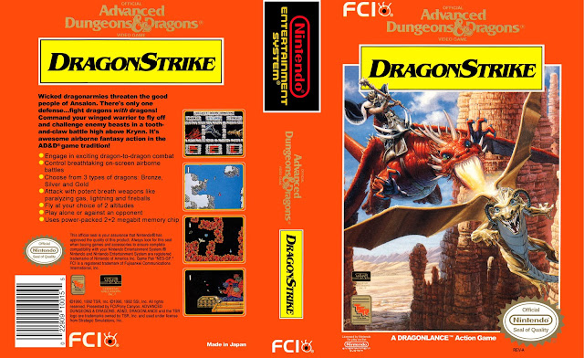 Capa Advanced Dungeons & Dragons DragonStrike NES