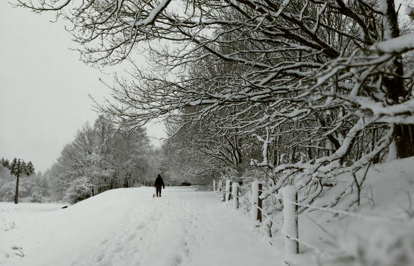 Sneeuw in Hockai