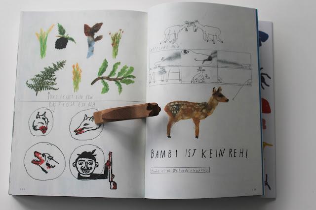 Er liest - ich lese... Buchtipps fuer Kinder und Eltern Oh ein Tier Tierbestimmungsbuch Bambi ist kein Reh Literatur Jules kleines Freudenhaus