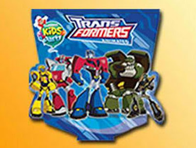 Jollibee party package - Transformers invitation cards