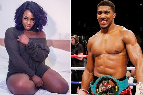 Uriel finally gets to meet her crush, Anthony Joshua (Video)