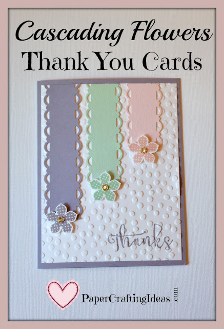 http://papercraftingideas.com/cascading-flowers-easy-handmade-thank-you-cards/
