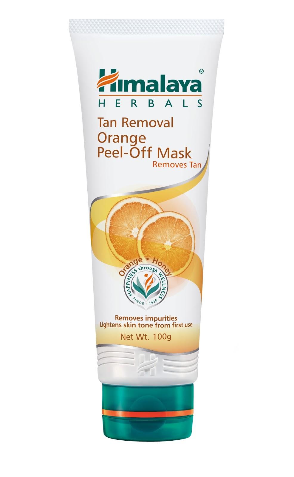 himalaya tan removal orange peel off mask removes skin tan food fashion fun. Black Bedroom Furniture Sets. Home Design Ideas