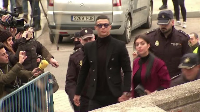 Cristiano Ronaldo In Court For Tax Fraud