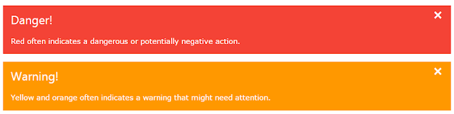 W3.CSS Framework Alerts