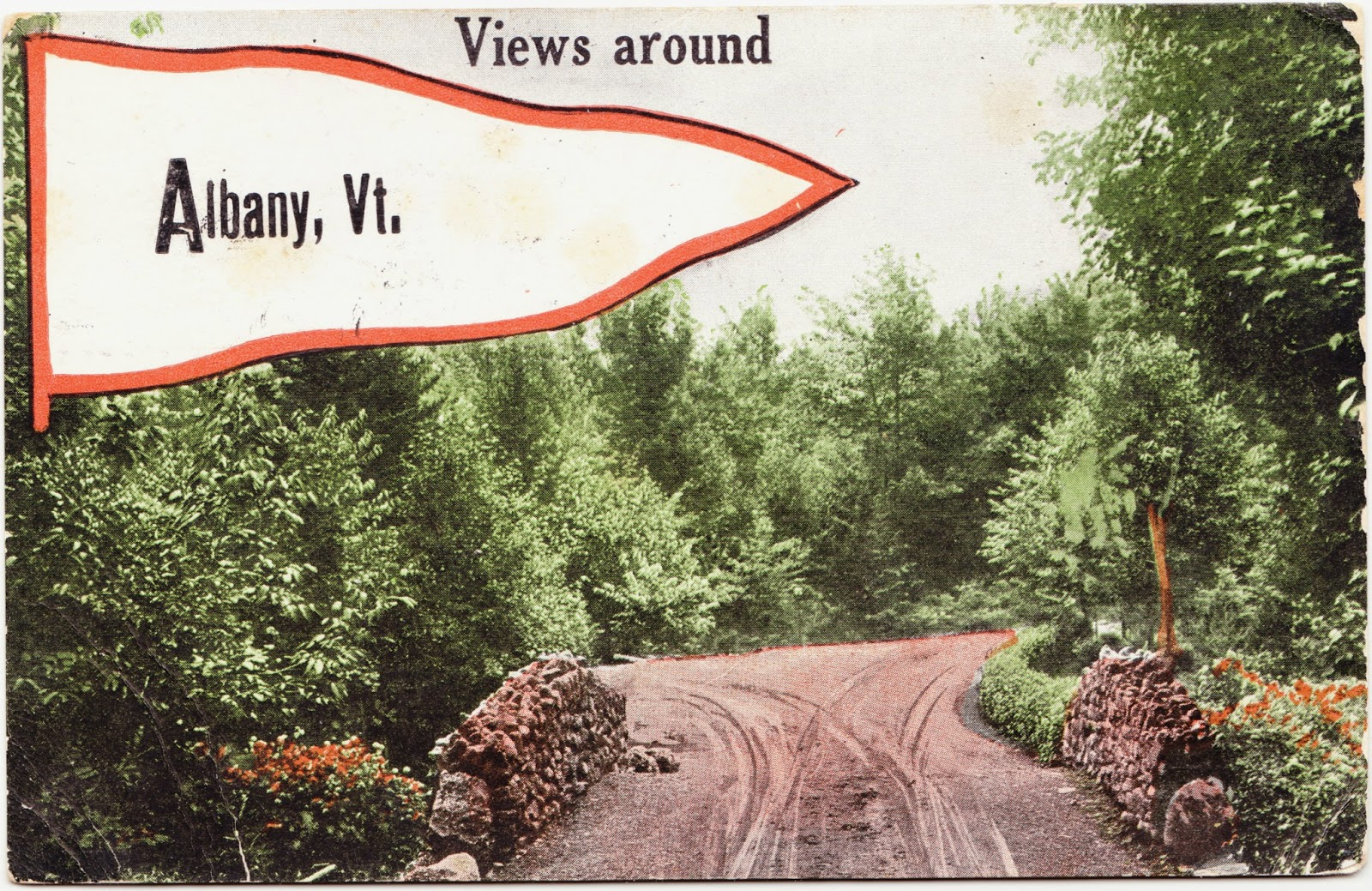 Papergreat Postcard Mailed 101 Years Ago From Albany Vermont