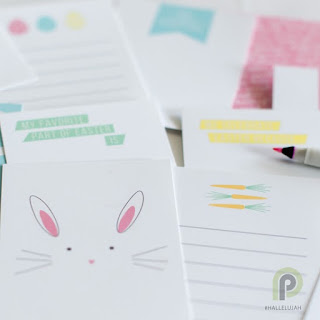 Spread the Easter spirit with these beautiful #HALLELUJAH Easter Printable Journaling Cards