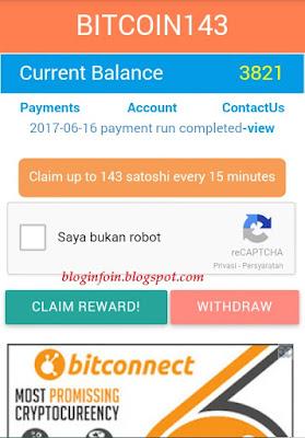 Aplikasi penghasil Bitcoin terbanyak dengan cepat dan otomatis terbukti membayar,yg pastinya sedikit untuk melakukan klik captcha,saatnya berburu BTC melalui HP