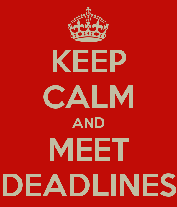 to meet deadline