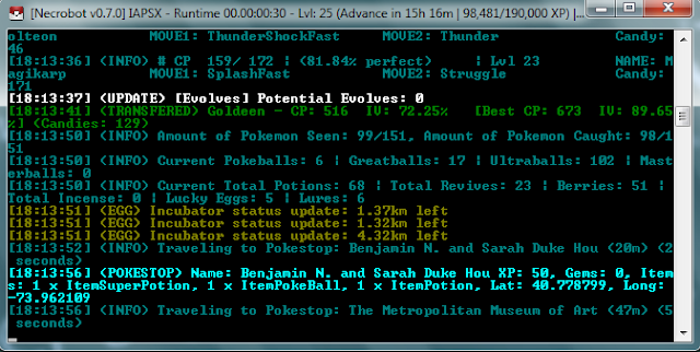 Cara Menggunakan NecroBot 0.7.0 Terbaru, Cara Menggunakan NecroBot Terbaru Agustus 2016, Cara Menggunakan BOT Necrobot Terbaru Versi 0.7.0, Cara Menggunakan Necrobot BOT Pokemon GO Work.