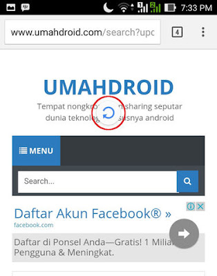 Quick Refresh Pada Google Chrome Android