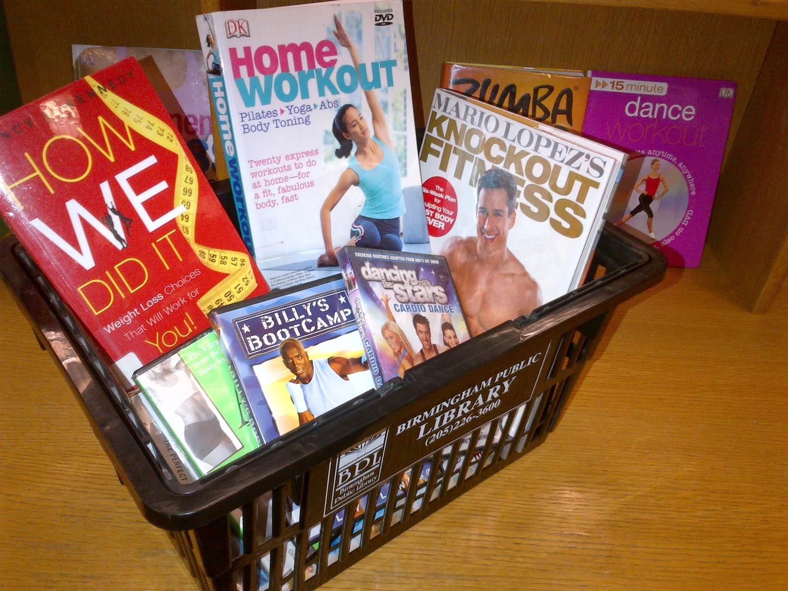 picture of some of BPL's health and fitness materials
