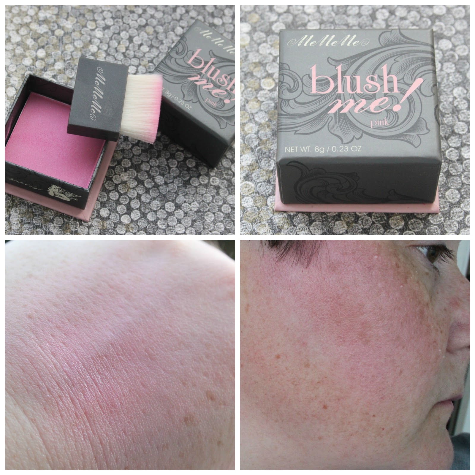 MeMeMe Cosmetics Blush Me swatches in Pink