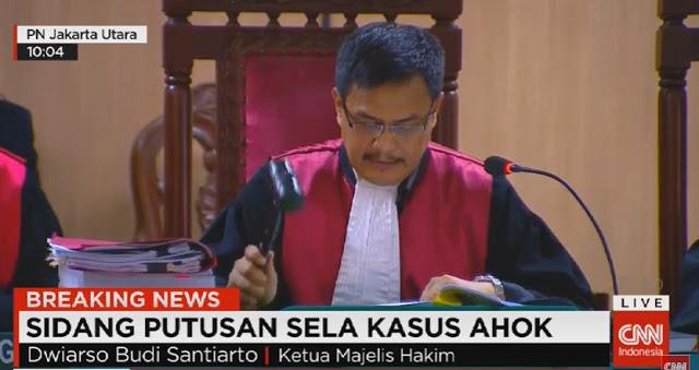 Alhamdulillah!! Majelis Hakim Tegas Tolak Keberatan Ahok