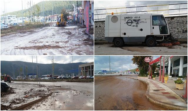 Ηγουμενίτσα: Το μηχάνημα που πλένει τους δρόμους παρκαρισμένο, ο Δήμαρχος στο καφενείο και η πόλη μέσα στη λάσπη (ΦΩΤΟ+ΒΙΝΤΕΟ)