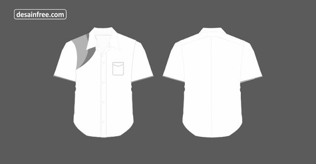 Download Desain Kameja Putih Lengan Pendek CorelDraw