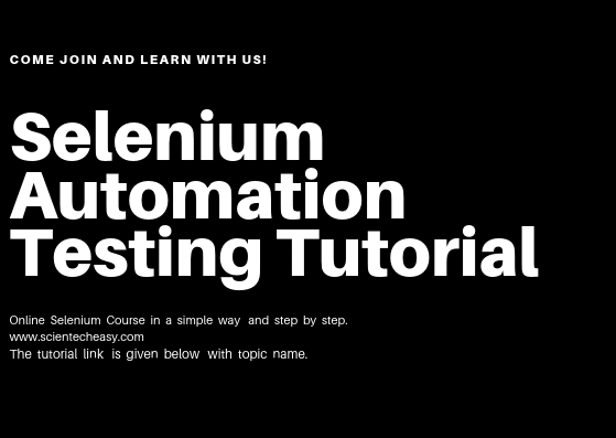 Selenium for Automation Testing, Learn Selenium automation testing online free