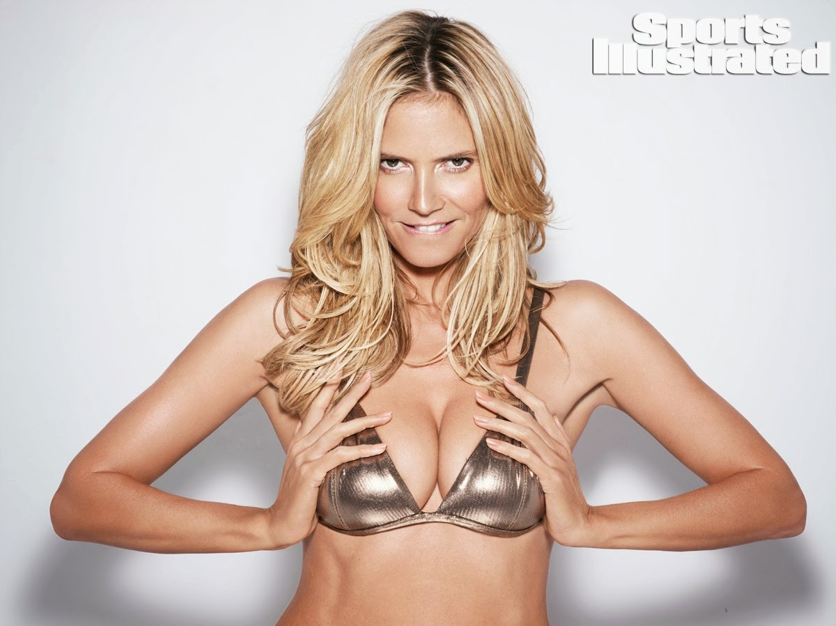 heidi klum shows toned body for the sports illustrated 2014 swimsuit issue. Black Bedroom Furniture Sets. Home Design Ideas
