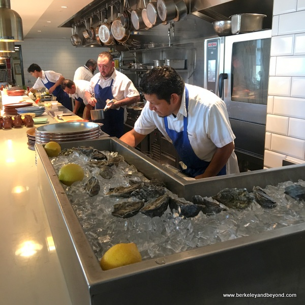 oyster bar at Limewood Bar & Restaurant at the Claremont Club & Spa, a Fairmont Hotel in Berkeley, California