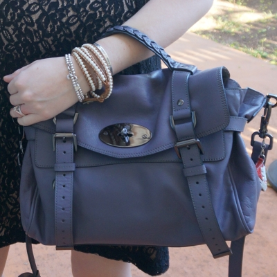 AwayFromTheBlue | Mulberry regular Alexa bag in foggy grey