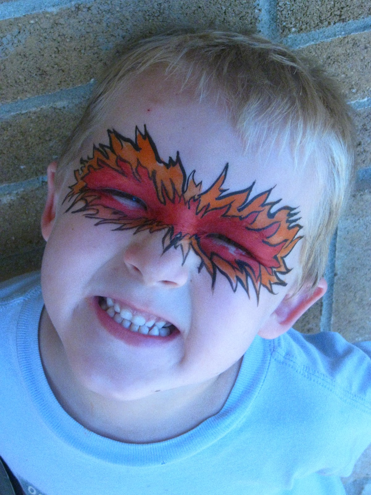 Kingsley Corner: Halloween face painting ideas- flames and ...