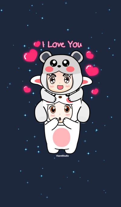 Bunny Bear I Love You PingPing PaoPao