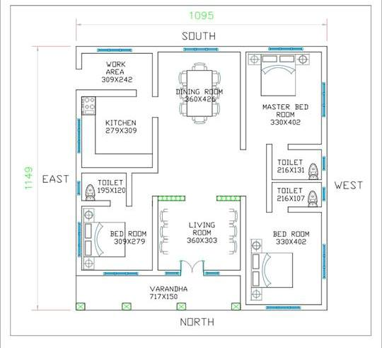 small 3bedroom low cost house plan - Get Modern 3 Bedroom House Low Cost Small House Design Background