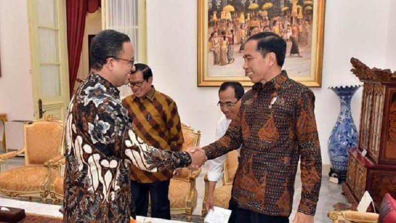 Anies Baswedan bertemu Jokowi