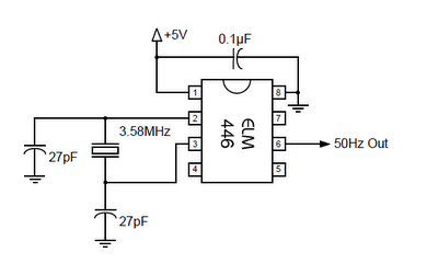 50Hz ACCURATE OSCILLATOR CIRCUIT SCHEMATIC DIAGRAM