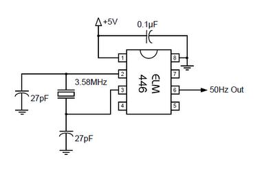 50hz accurate oscillator circuit schematic diagram circuit diagram quartz clock