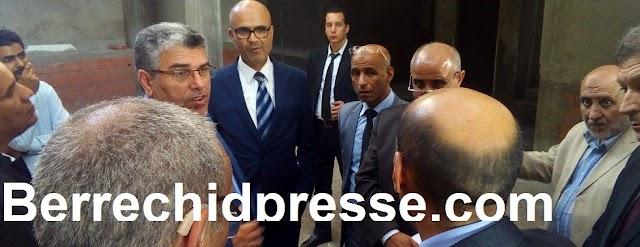 """بالصور ...وزير العدل """"الرميد"""" ببرشيد لزيارة أشغال المقر الجديد للمحكمة الإبتدائية"""