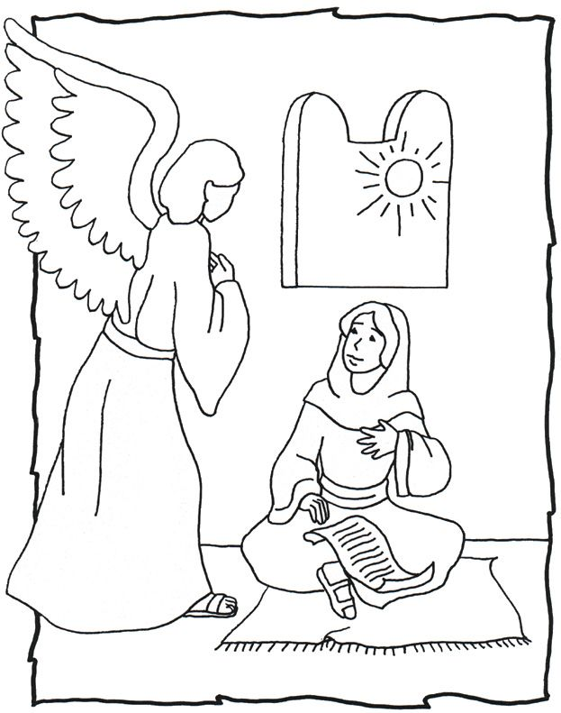 La Anunciación,Angel Gabriel Y María.