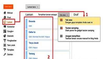 Cara Menambahkan Halaman Pada Blog Untuk Pemula