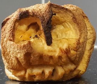 Shrunken Head Skull Inspired Apple Carving