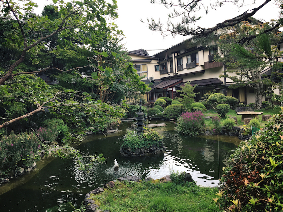 The garden within Sekishoin Ryokan Shukubo temple stay in Koyasan Japan