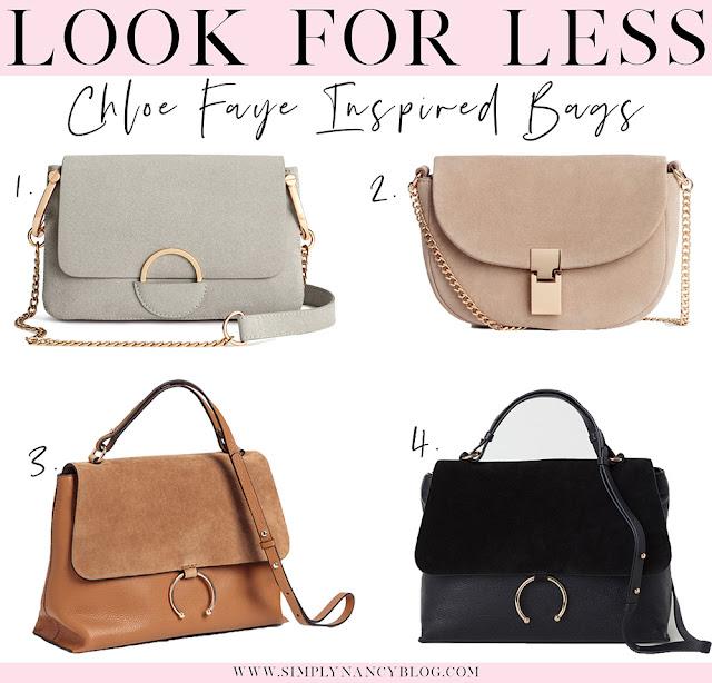 chloe faye inspired bags, look for less, save vs splurge, desinger dupes under $100