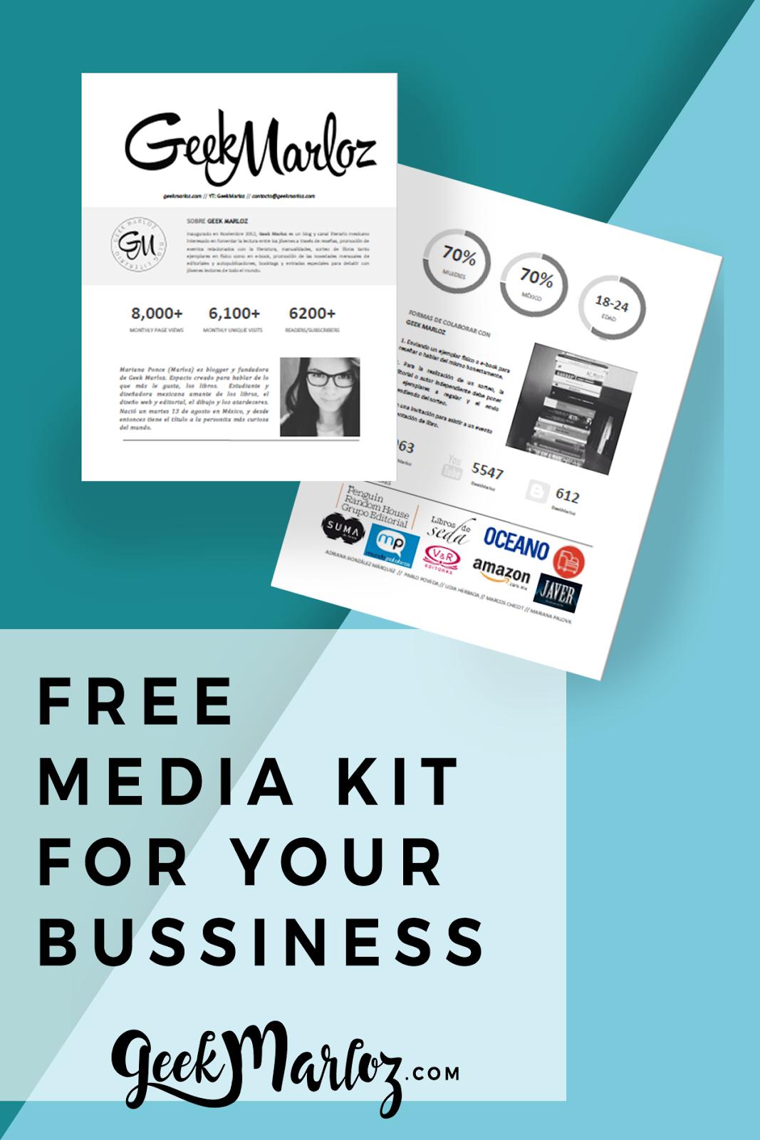 GeekMarloz| Free Media Kit 2017