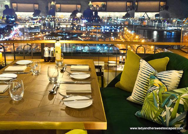 dining in Al Dawaar Revolving restaurant Dubai
