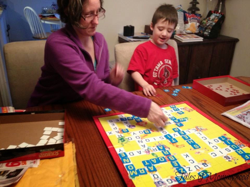 scrabble jr, games, family time