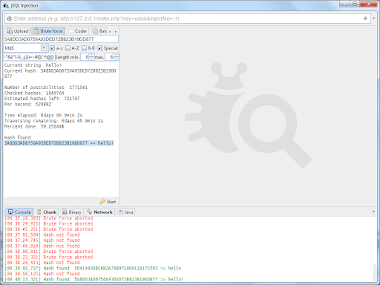 jSQL Injection v0.73 - Java Tool For Automatic SQL Database Injection
