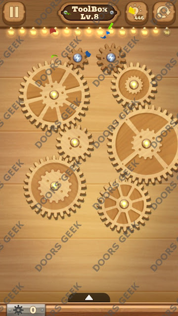 Fix it: Gear Puzzle [ToolBox] Level 8 Solution, Cheats, Walkthrough for Android, iPhone, iPad and iPod