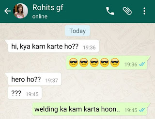 Funny Whatsapp Chat Screenshot in Hindi