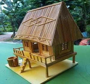 Nhà tăm tre-Nhà rông-Quà tặng độc đáo