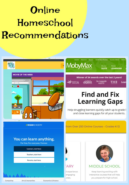 Free Online Homeschool Curriculum Recommendations