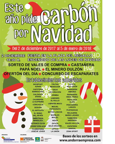 Campaña de Navidad de la Asociación Empresarial de Andorra Sierra de Arcos y Bajo Martín