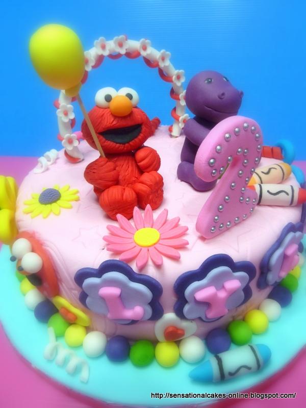 The Sensational Cakes Elmo And Barnie Cake Singapore