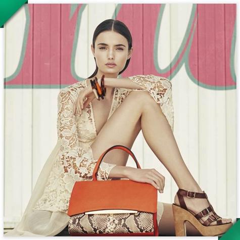 moda primavera El Corte Inglés 2016 bolso y sandalias tacón
