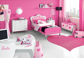 Pink Barbie Doll Bedroom Furniture